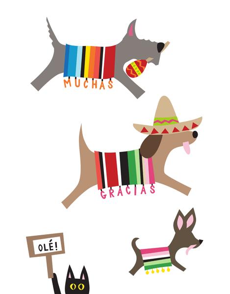 Spanish  Doggies Thank You
