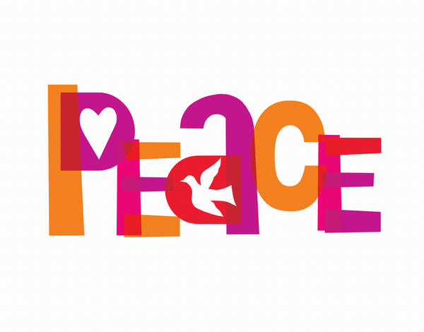 Graphic Peace Holiday Card