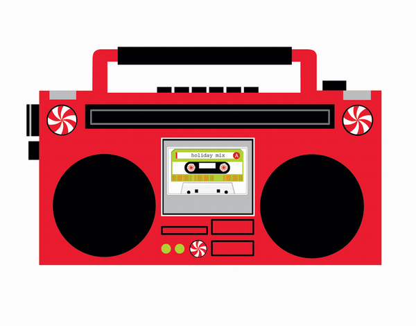 Holiday Boombox Greeting Card