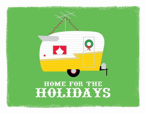 Festive Trailer Holiday Card