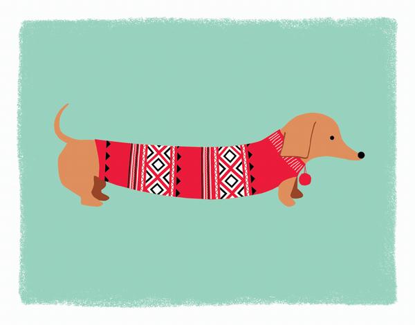 AdorableDog Sweater Holiday Card