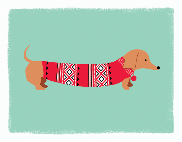 AdorableDog Sweater Holiday Card