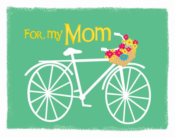 Cute bycicle drawing Mother's Day Card