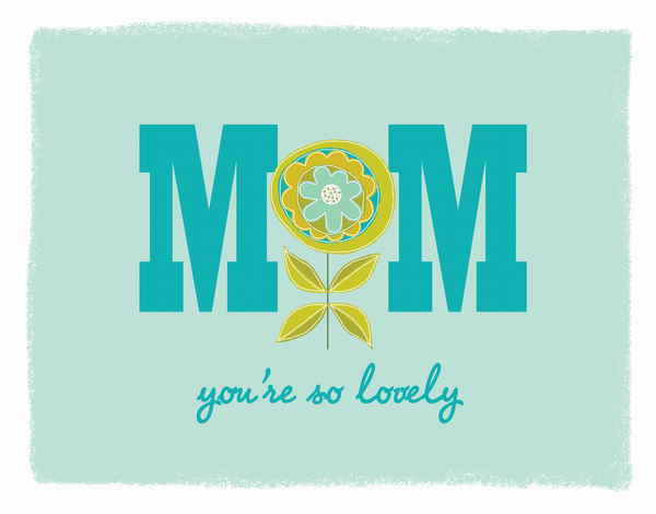 Dutch Flower Mother's Day Card