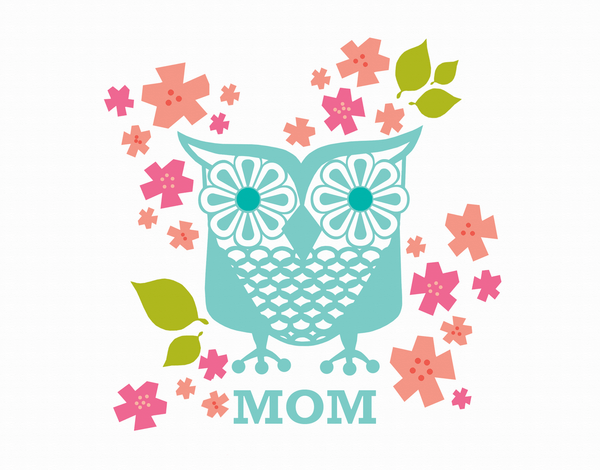Floral Owl Mother's Day Card