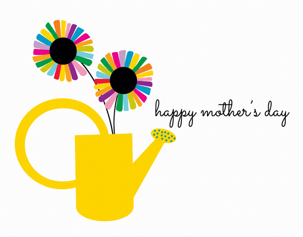 Watering Can Mother's Day Card