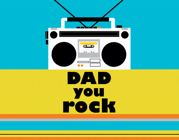 Boom Box Father's Day Card