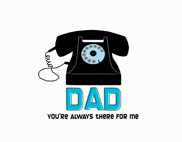 Retro Telephone Father's Day Card