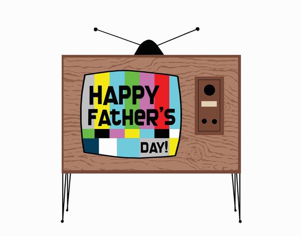 Retro TV Father's Day Card