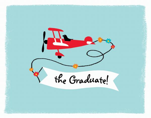 Plane Graduation Congrats Card