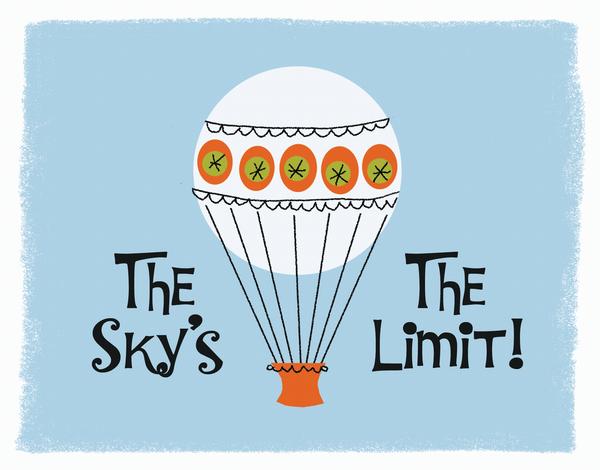 Sky's The Limit Congrats Card