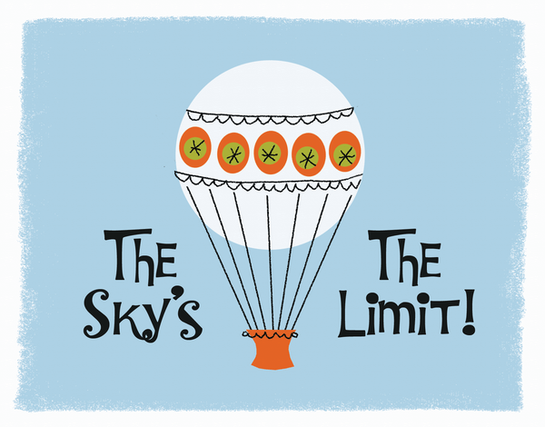 Sky's The Limit Congrats Card