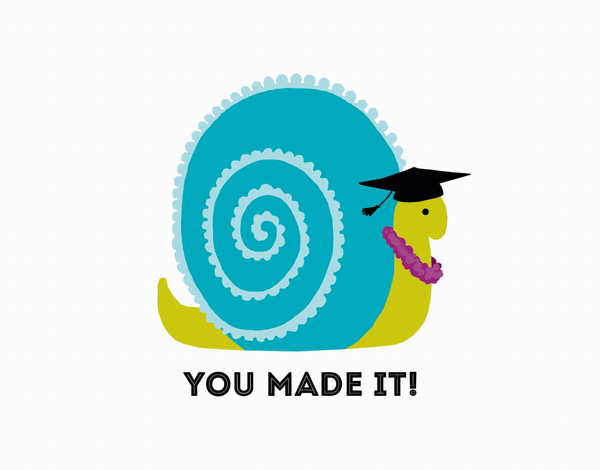 Snail Graduation Congrats Card