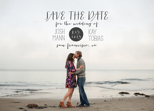 Minimalist Save the Date