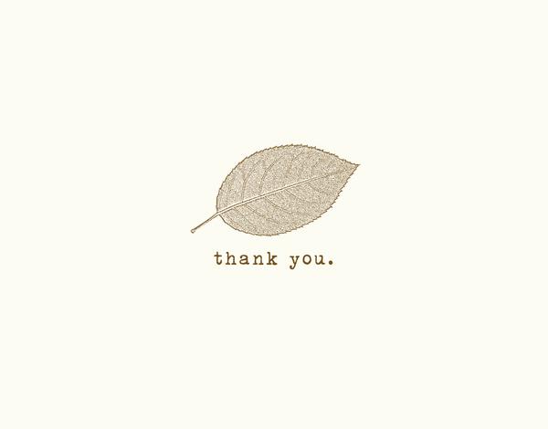 Freen Leaf Thank You Card