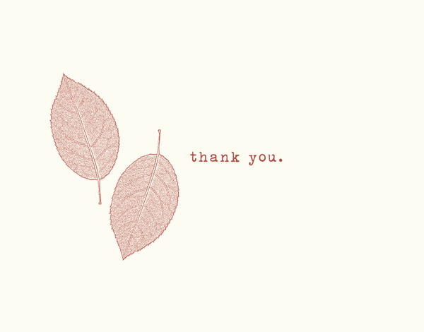 Red Leaves Thank You Card