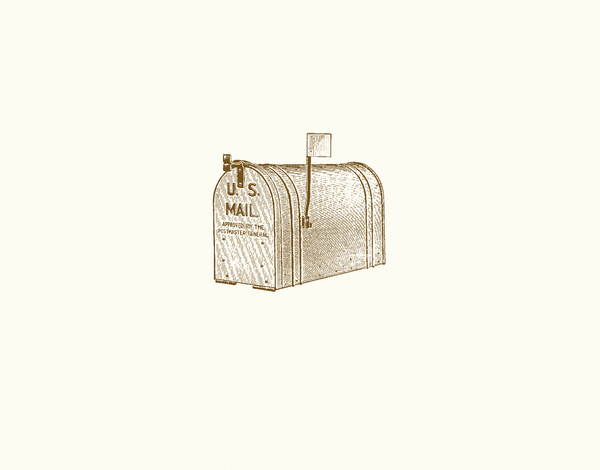 Vintage Mailbox Everyday Stationery