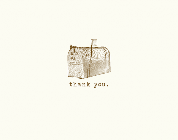 Small Mailbox Thank you Card