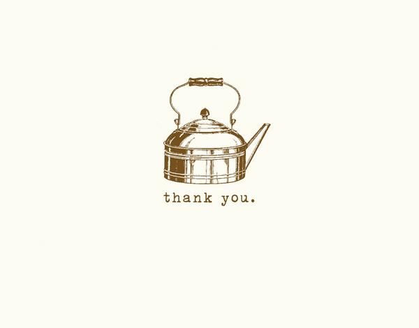 Vintage Tea Kettle Thank You Card