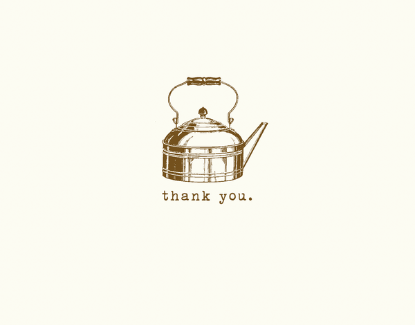 Vintage Tea Kettle Thank You Card