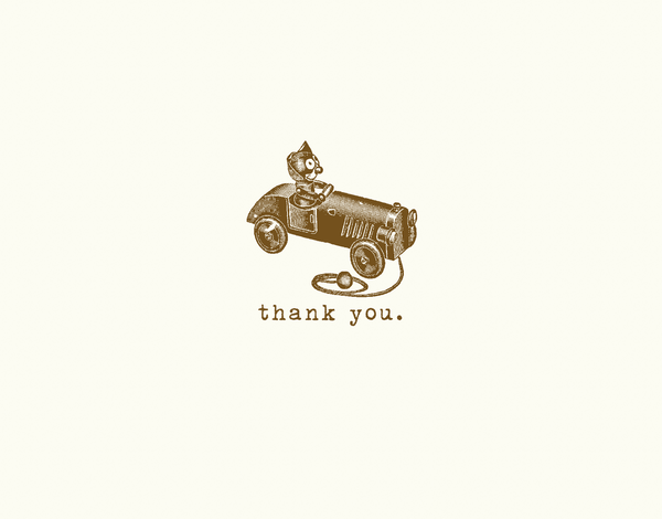 Vintage Toy Thank You Card
