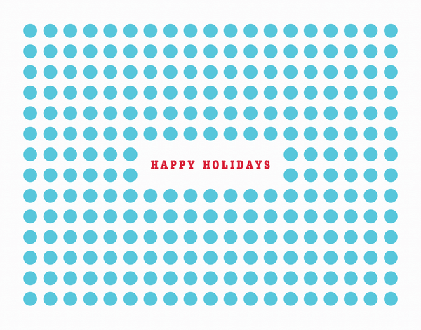 Blue Polka Dot Holiday Card