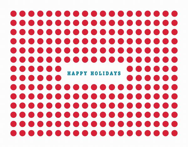 Red Circles Holiday Card