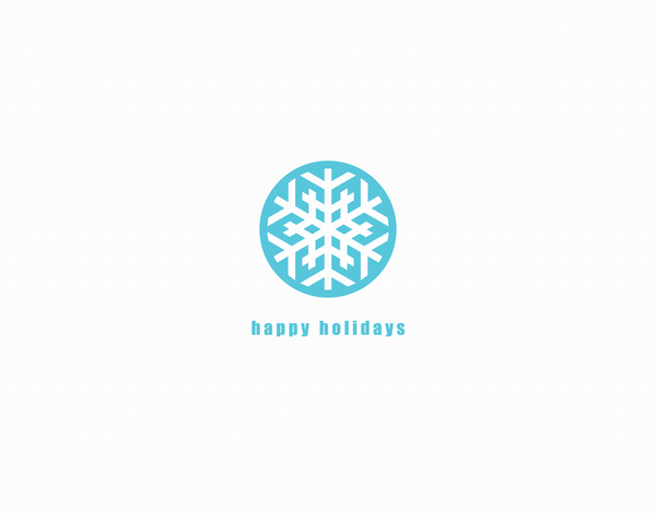 Simple Graphic Snowflake Holiday Card
