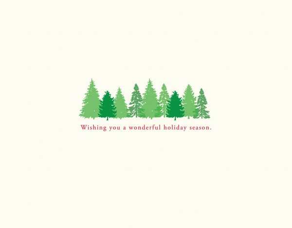Sweet Forest Holiday Wishes Card