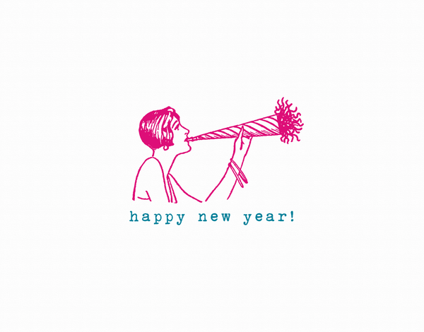 Noisemaker Happy New Year Card