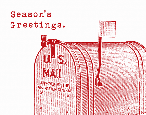 Mailbox Season's Greetings Card