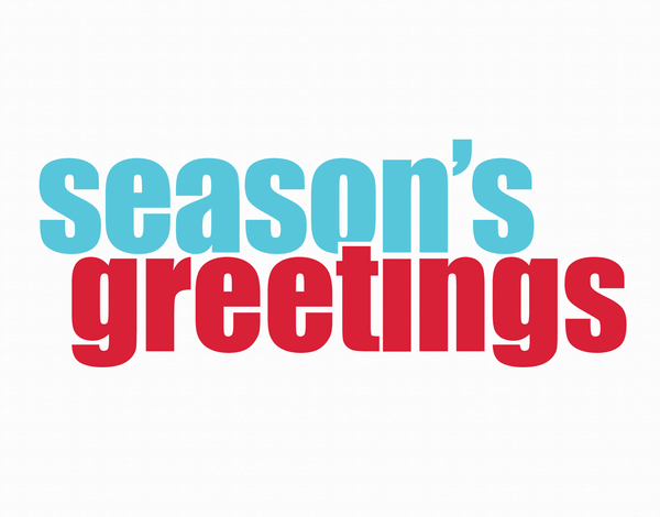 Bold Season's Greetings Holiday Card