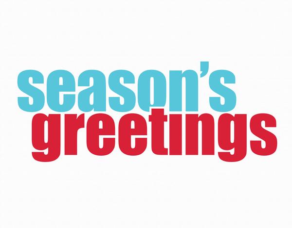 Bold Season's Greetings Holiday Card