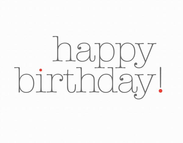 Minimal Birthday Card