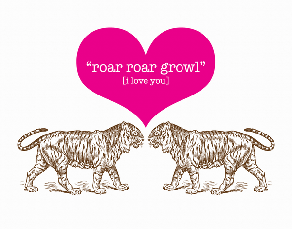 Tiger Growl Love Card