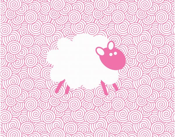 Pink Sheep Greeting Card