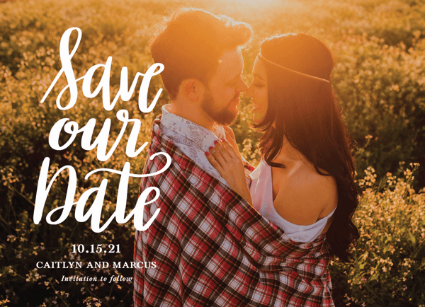 Stacked Script Save Our Date