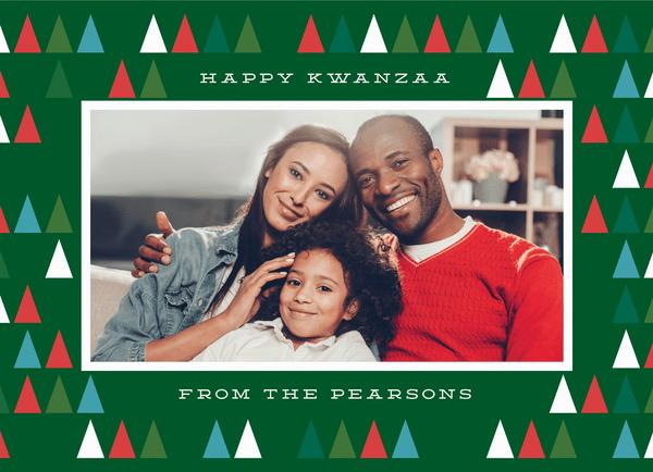 Modern Happy Kwanzaa Trees