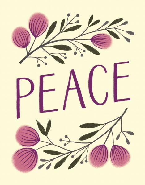 Botanical Plum Peace