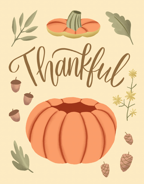 Thankful Pumpkin Leaves