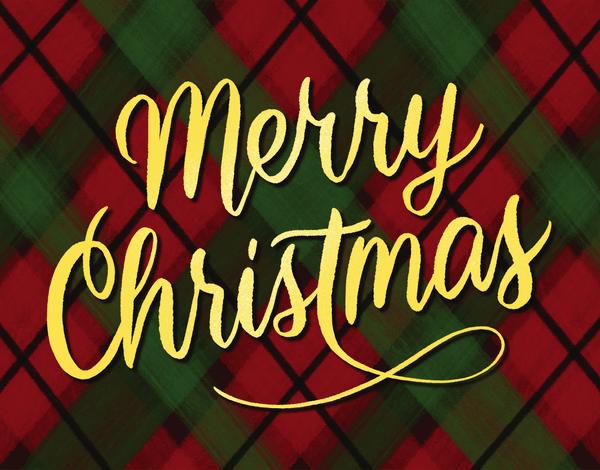 Merry Christmas Plaid