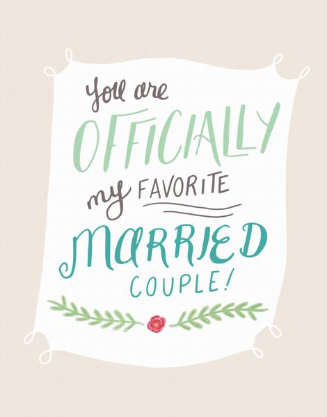Pretty Banner Wedding Congrats Card