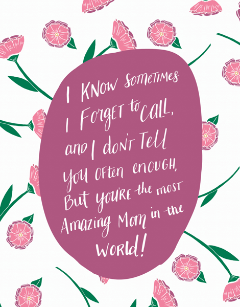 Pink Floral Amazing Mom Mother's Day Card