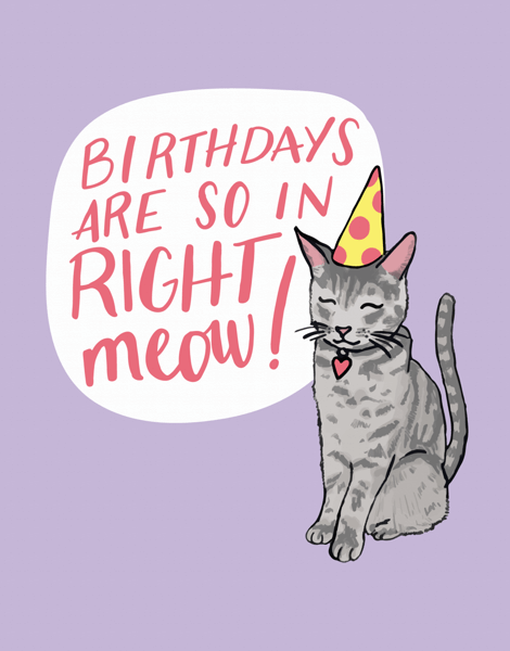 Punny Cat Birthday Card