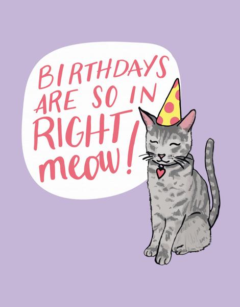 Punny Cat Birthday Card