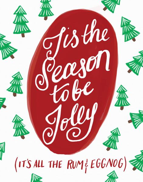 Funny Tis The Season Holiday Card
