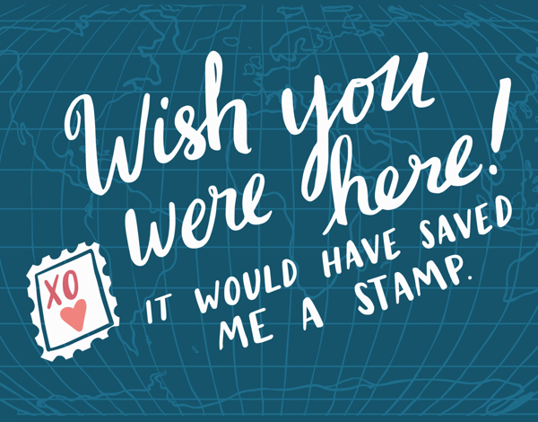 Vintage Wish You Were Here Card