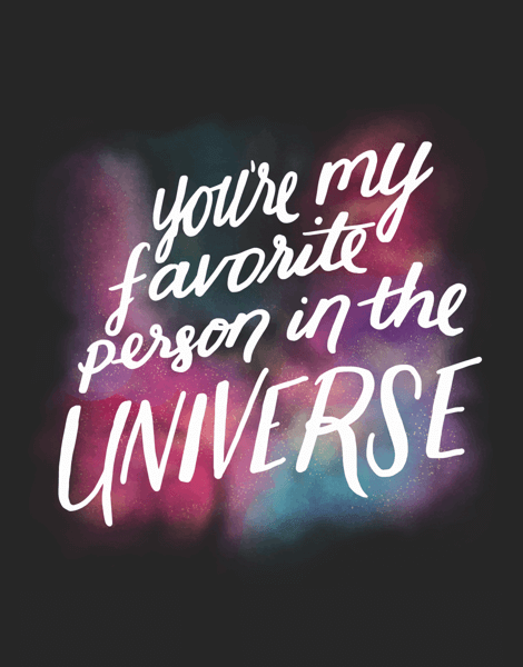 You're My Favorite Person in the Universe Card