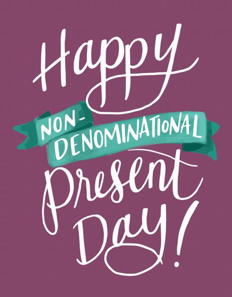 Banner Non Denominational Present Day Card