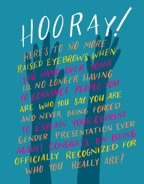 Gender Identity Change Congrats Card